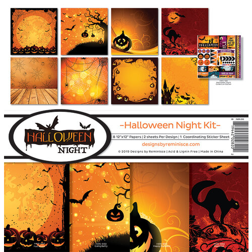 Ella and Viv Paper Company - Halloween Night Collection - 12 x 12 Collection Kit
