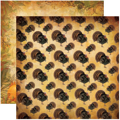 Reminisce - Harvest Collection - 12 x 12 Double Sided Paper - Fall Harvest