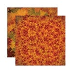 Reminisce - Harvest Collection - 12 x 12 Double Sided Paper - Copper Leaf