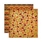 Reminisce - Harvest Collection - 12 x 12 Double Sided Paper - Autumns Ebb