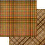 Reminisce - Harvest 2014 Collection - 12 x 12 Double Sided Paper - Harvest Plaid