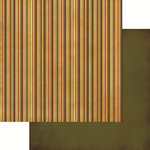 Reminisce - Harvest 2014 Collection - 12 x 12 Double Sided Paper - Harvest Stripe