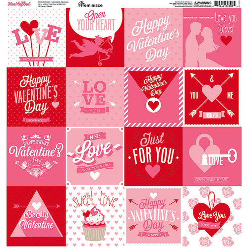 Reminisce - Heart and Soul Collection - 12 x 12 Cardstock Stickers - Square