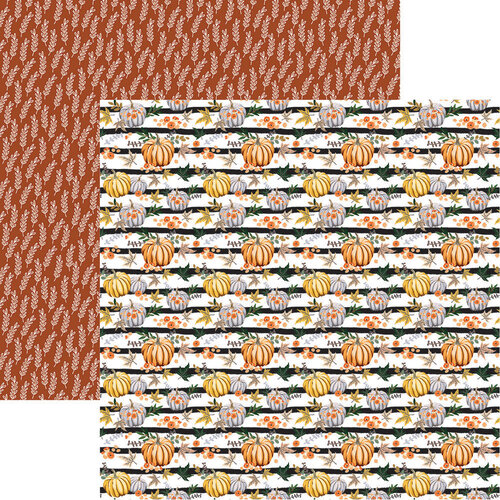 Reminisce - 12 x 12 Double Sided Paper - Pumpkins Galore