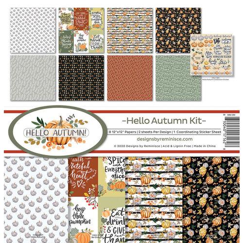 Reminisce - 12 x 12 Collection Kit - Hello Autumn