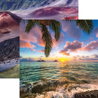 Reminisce - Hawaii Collection - 12 x 12 Double Sided Paper - Lanihai Sunrise