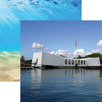 Reminisce - Hawaii Collection - 12 x 12 Double Sided Paper - USS Arizona Memorial