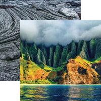 Reminisce - Hawaii Collection - 12 x 12 Double Sided Paper - Na Pali Coast on Kauai