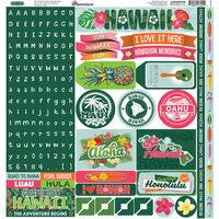 Reminisce - Hawaii Collection - 12 x 12 Elements Sticker