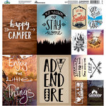Reminisce - Happy Camper Collection - 12 x 12 Cardstock Stickers - Poster