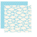 Reminisce - Happy Easter Collection - 12 x 12 Double Sided Shimmer Paper - Cloud Puff