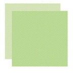 Reminisce - Happy Easter Collection - 12 x 12 Double Sided Shimmer Paper - Grasshopper Dots