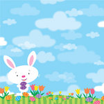 Reminisce - Happy Easter Collection - 12 x 12 Double Sided Paper - Some Bunny Loves You
