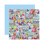 Reminisce - Happy Easter Collection - 12 x 12 Double Sided Paper - Bunny Collage