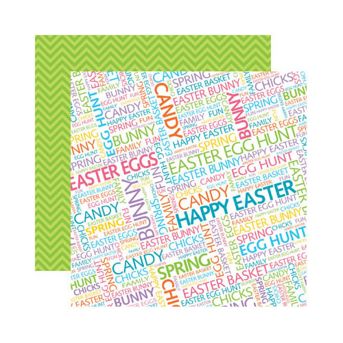 Reminisce - Happy Easter Collection - 12 x 12 Double Sided Paper - Easter
