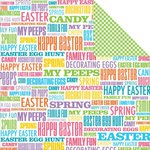 Reminisce - Happy Easter Collection - 12 x 12 Double Sided Paper - My Peeps