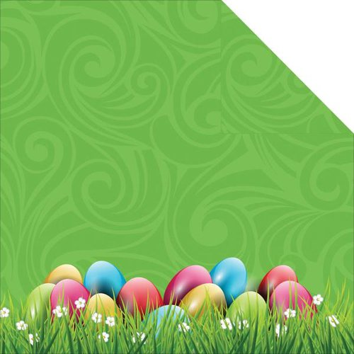 Reminisce - Happy Easter Collection - 12 x 12 Double Sided Paper - Easter Egg Hunt
