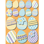 Reminisce - Happy Easter Collection - 3 Dimensional Glitter Stickers - Easter Eggs