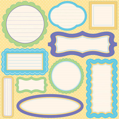 Reminisce - Happy Easter Collection - 12 x 12 Glitter Cardstock Stickers - Journaling