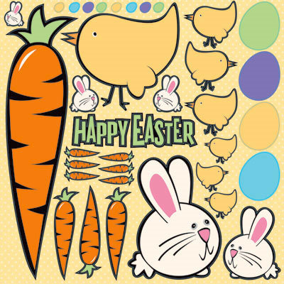 Reminisce - Happy Easter Collection - 12 x 12 Cardstock Stickers - Easter Icon
