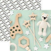 Reminisce - Hello World Collection - 12 x 12 Double Sided Paper - Baby's Toys