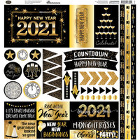 Reminisce - Happy New Year Collection - 12 x 12 Sticker Sheet