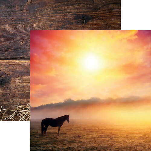Reminisce - 12 x 12 Double Sided Paper - Horse at Sunrise