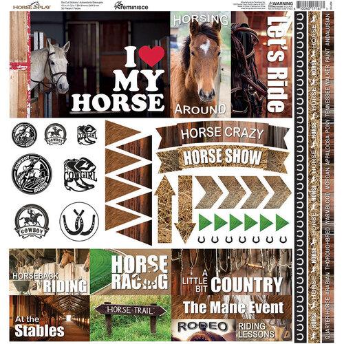 Reminisce - 12 x 12 Cardstock Stickers - Horseplay