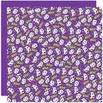 Reminisce - Halloween Party Collection - 12 x 12 Double Sided Paper - You Don't Scare Me