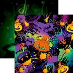 Reminisce - Halloween Party Collection - 12 x 12 Double Sided Paper - Halloween Neon Party