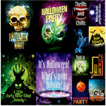 Reminisce - Halloween Party Collection - 12 x 12 Cardstock Stickers - Poster