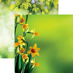 Reminisce - Hello Spring Collection - 12 x 12 Double Sided Paper - Daffodils