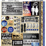 Reminisce - High School Musical Collection - 12 x 12 Cardstock Stickers - Elements