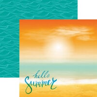 Reminisce - Hello Summer Collection - 12 x 12 Double Sided Paper - Hello Summer
