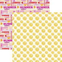 Reminisce - Hello Summer Collection - 12 x 12 Double Sided Paper - Sunshine Forever