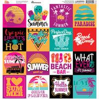 Reminisce - Hello Summer Collection - 12 x 12 Elements Sticker