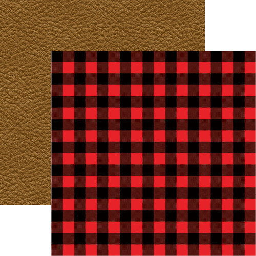 Reminisce - Hunters Paradise Collection - 12 x 12 Double Sided Paper - Hunter's Plaid