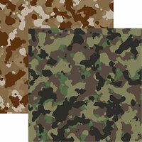 Reminisce - Hunters Paradise Collection - 12 x 12 Double Sided Paper - Hunter's Camo