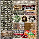 Reminisce - Hunters Paradise Collection - 12 x 12 Cardstock Stickers - Alphabet