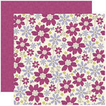 Reminisce - In Bloom Collection - 12 x 12 Double Sided Paper - The Power of Flowers
