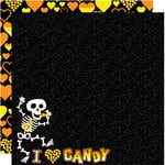 Reminisce - I Heart Candy Collection - Halloween - 12 x 12 Double Sided Paper - I Heart Candy
