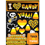 Reminisce - I Heart Candy Collection - Halloween - 3 Dimensional Die Cut Stickers - I Heart Candy