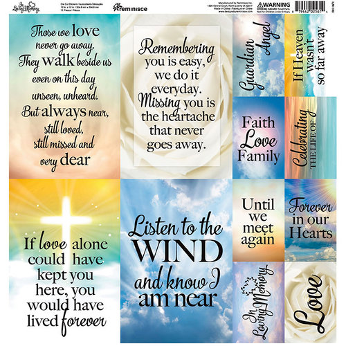 Reminisce - In Loving Memory Collection - 12 x 12 Cardstock Stickers - Poster
