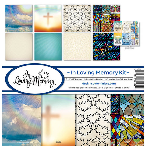 Reminisce - In Loving Memory Collection - 12 x 12 Collection Kit
