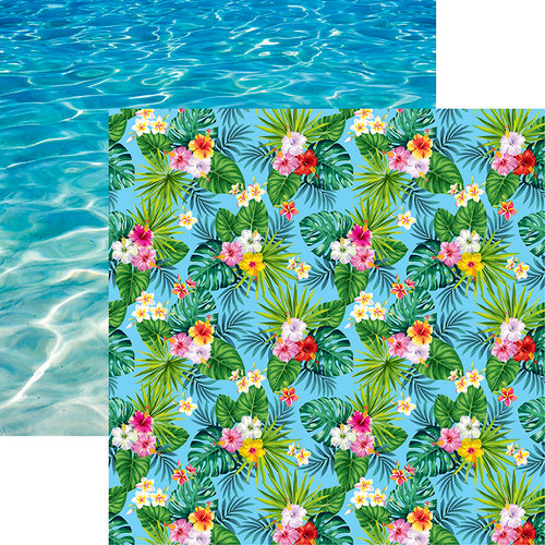 Reminisce - Island Princess Collection - 12 x 12 Double Sided Paper - Maui