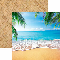 Reminisce - Island Princess Collection - 12 x 12 Double Sided Paper - Ocean