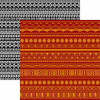 Reminisce - Island Princess Collection - 12 x 12 Double Sided Paper - Tribal
