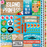 Reminisce - Island Princess Collection - 12 x 12 Cardstock Stickers - Elements