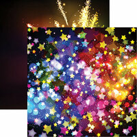 Reminisce - Its Party Time Collection - 12 x 12 Double Sided Paper - Party Bokeh