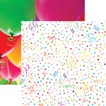 Reminisce - Its Party Time Collection - 12 x 12 Double Sided Paper - Confetti Celebration